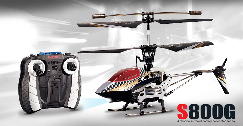 Mini Syma S800G Rc mini Helicopter 4Ch With Gyro LED children rc toy gift P2(China (Mainland))