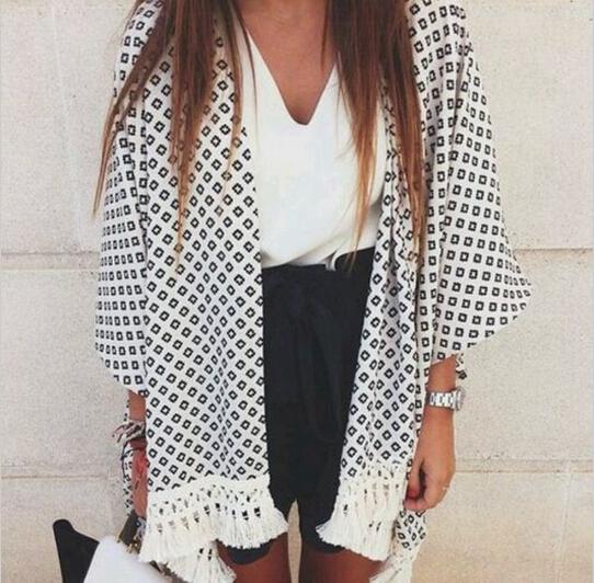 Женские блузки и Рубашки Summer shirt Kimono blusas 2015 camisas femininas  женские блузки и рубашки kimono cardigan 2015