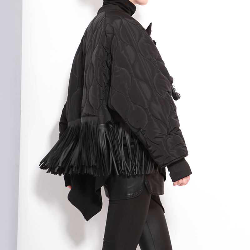 [XITAO] 2016 Winter women big eyes small monster tassel bat sleeve coat Korea street style female full sleeve short coat LL063