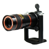 8x Zoom Optical Lens Mobile Phone Telescope Camera + universal holder For iPhone Sumsung HTC Sony xiaomi lg