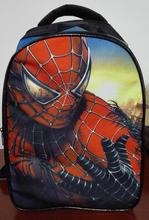 new fashion 2015 cartoon backpack with zipper fashion style boy cool spiderman bag child schoolbag for