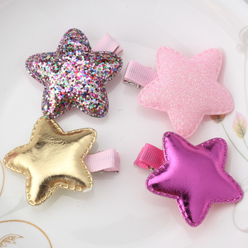 Hot Sale Cute Shiny Butterfly Star Heart Hair Clip Candy Colors Children Hairpins Girls Headwear Barrettes Hair Accessories
