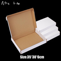 Retail White Gift Package Boxes Gift Handmade Soap Packaging Kraft Paper Boxes 35*30*6cm Mailing Box PP782