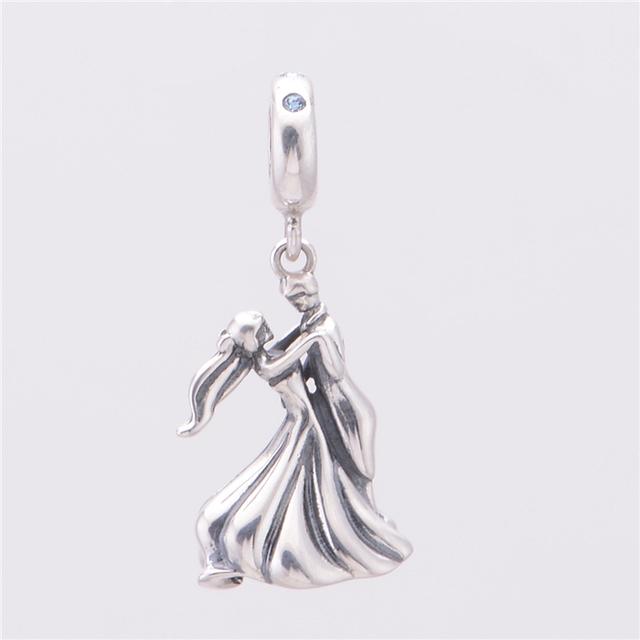 Стерлингового серебра 925 пробы пара из любителей танцев бусины прелести подходит европейский бренд DIY ювелирных змея сеть браслет