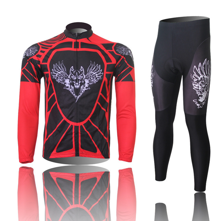 XINTOWN Red Airwolf Mens Cycling Jerseys and Pants Bicycle Set Long Sleeve Tops autumn Sport cycling clothing mix size S-XXXL<br><br>Aliexpress