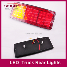 60 LED Truck Rear Lights 24V LED Truck Trailer Light Fog Reverse Stop Brake Off-Load lights(China (Mainland))