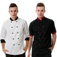 Chef Apron Summer Hotel Restaurant Kitchen Men Chef Uniform For Work Clothes Apron Waiter Overalls delantal avental