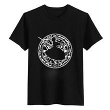 Новая мужская забавная Футболка с принтом, модная короткая черная белая футболка с драконом и мячом Гоку, Мужская хлопковая футболка с круг...(China)