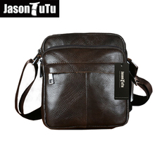 Buy Genuine Leather Men Shoulder Bags New Fashion Hot Male Handbag Small Crossbody Messenger Bag Travel Bolsa Brown Men's Satchels for $42.20 in AliExpress store