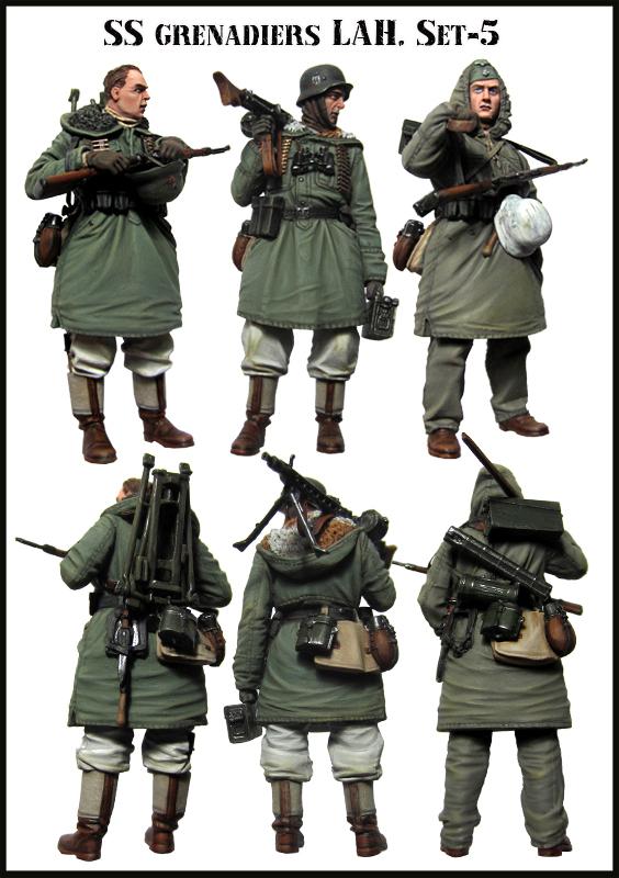 Scale Models 1/35 WW2 German Winter gun three groups WWII Resin Model Free Shipping(China (Mainland))
