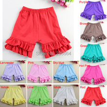 Wennikids Hot sale cotton Baby Girl Ruffled shorts summer Kid shorts girl shorts short pants for baby girls 1-8T Free Shipping(China (Mainland))