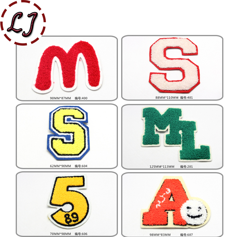 free shipping color big letters patches embroidered sew on patch cloth paste for child clothes