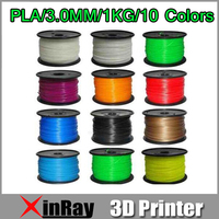 Free Shipping 1 kg 3mm ABS Filament with spool For Makerbot Mendel Printrbot Reprap Prusa 3D Printer Machine Multicolor New 3DA3