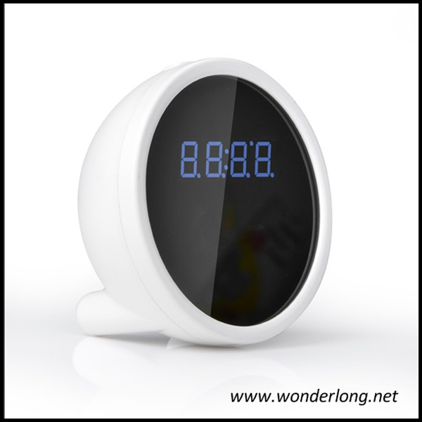 Factory wholesale (see your home anywhere) HD720P night vision wireless wifi home clock camera support IOS Android APP(Hong Kong)