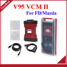 V95 NEW VCM 2 Diagnosis tool green single Board For FD/Mazda VCM II IDS VCM2 OBD2 Scanner + plastic box Free shipping(China (Mainland))