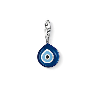 Turkey evil eye Charm pendant, 925 Silver Black, blue enamel charms Fit Bracelet #TS 0829-007-1<br><br>Aliexpress