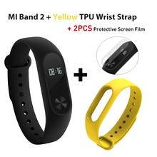 Оригинал Сяо mi Группа 2 Глобальный Версия Смарт-фитнес часы-браслет OLED Touchpad Браслет сна монитор сердечного ритма mi Band 2(China)