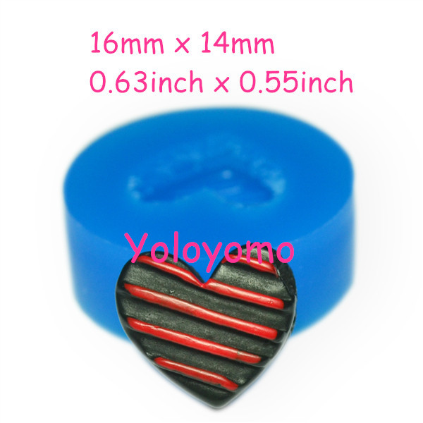 Free Shipping K081YL Bitten Heart Chocolate Silicone Mold - Craft Food Safe Gum Paste Candy Miniature Food Candles Mold(China (Mainland))