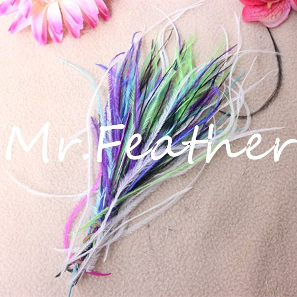 Freeshipping 200 assorted colors Ostrich Herl Feather Fluffy 10-15CM crafts,wedding decorations - Mr. store