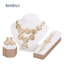 Wedding African Beads Jewelry Sets For Women Party Gift Bridal Pendant Crystal Accessories Necklace Earrings Bracelet Rings Set(China (Mainland))