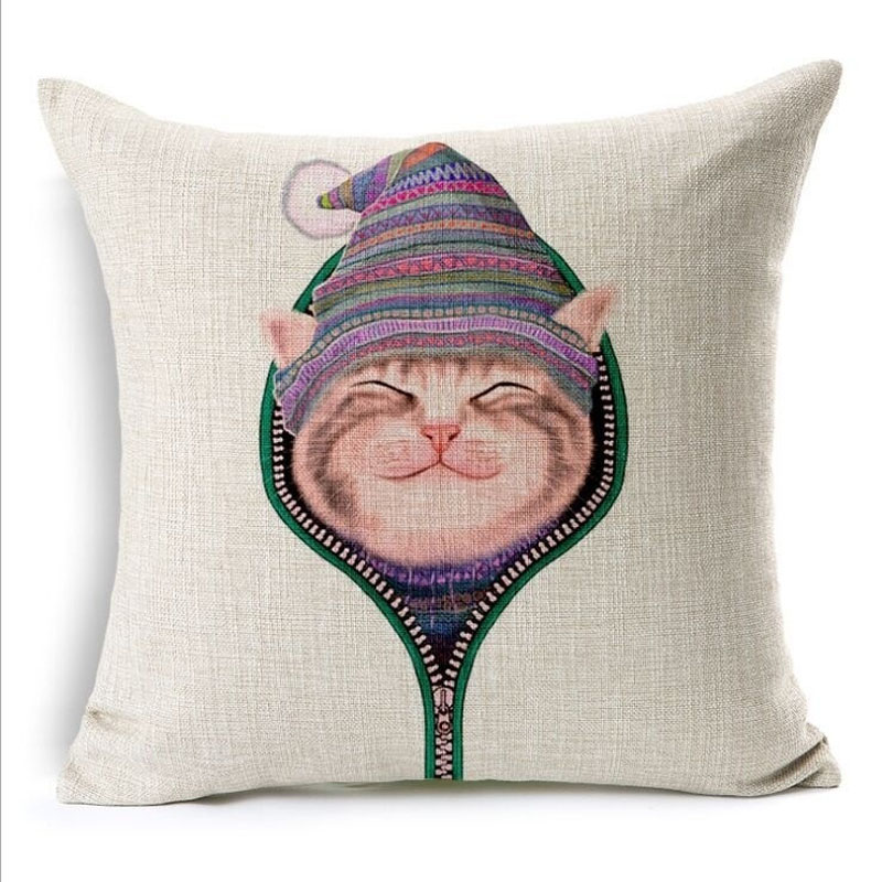 How To Make A Cute Pillow Case : Aliexpress.com : Buy Naughty Cat Square Throw Pillow Case Cushion Cover 45x45cm(18x18IN) Cute ...