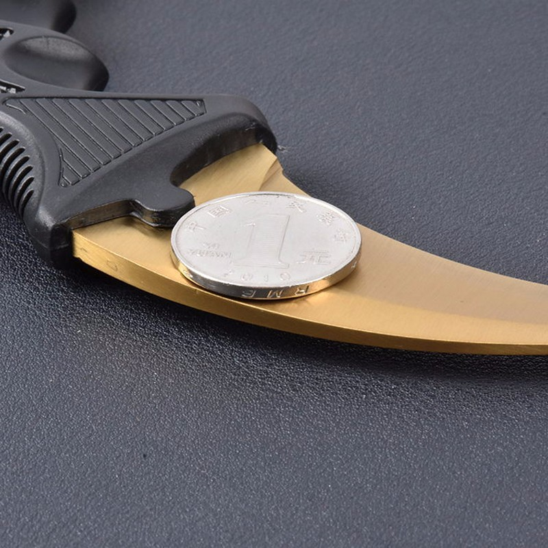 Buy G&P CS GO karambit fade knife Karambit real knifes Counter Strike collectible hunting Fixed knife tactical survival tool cheap