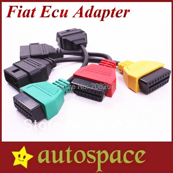 Fiat Ecu Scan Adaptors Fiat Diagnostic Ecu Scan Interface Fiat Connect Cable Tool (3 Pieces/ Set)(China (Mainland))