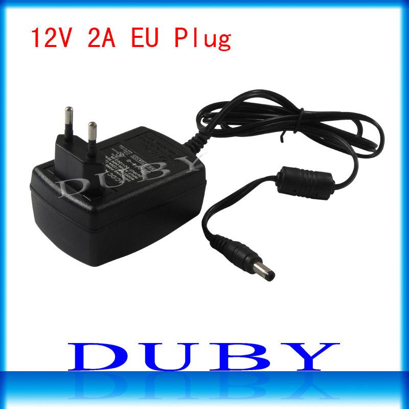 5Pcs/lot 12V2A New AC 100V-240V Converter power Adapter DC 12V 2A Power Supply EU Plug DC Free shipping(China (Mainland))