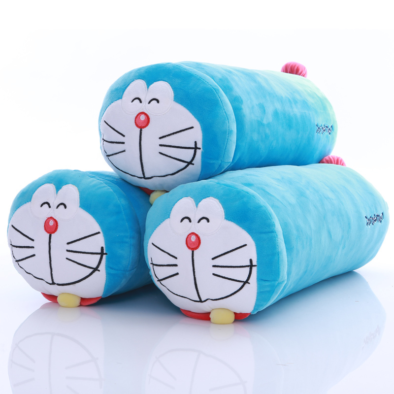 Kawaii Pillow 55CM Lovely Doraemon Plush pillow Column Shape PP cotton Doraemon Plush Toys Valentine Day Birthday Gift(China (Mainland))