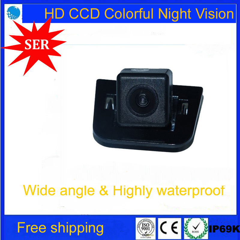 CCD Night Vision Car Rear View Reverse Camera Backup parking aid monitor rear view system Reversing Camera for 2012 Toyota Prius(China (Mainland))