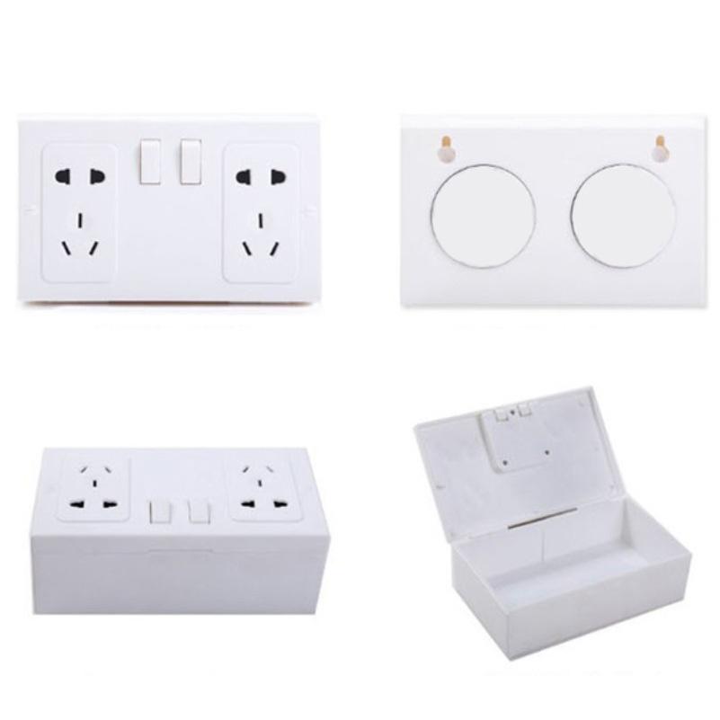 New Design Fake Secret Wall Plug Socket Security Safe Money Jewel Box Hides Valuables Free Shipping NVIE(China (Mainland))