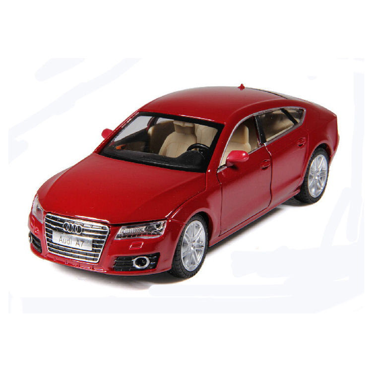 Metal Diecast Car Model for AUDI A7 1/24 Scale Pull Back Sound&Light Alloy Model Collection/Gift for Kids(China (Mainland))