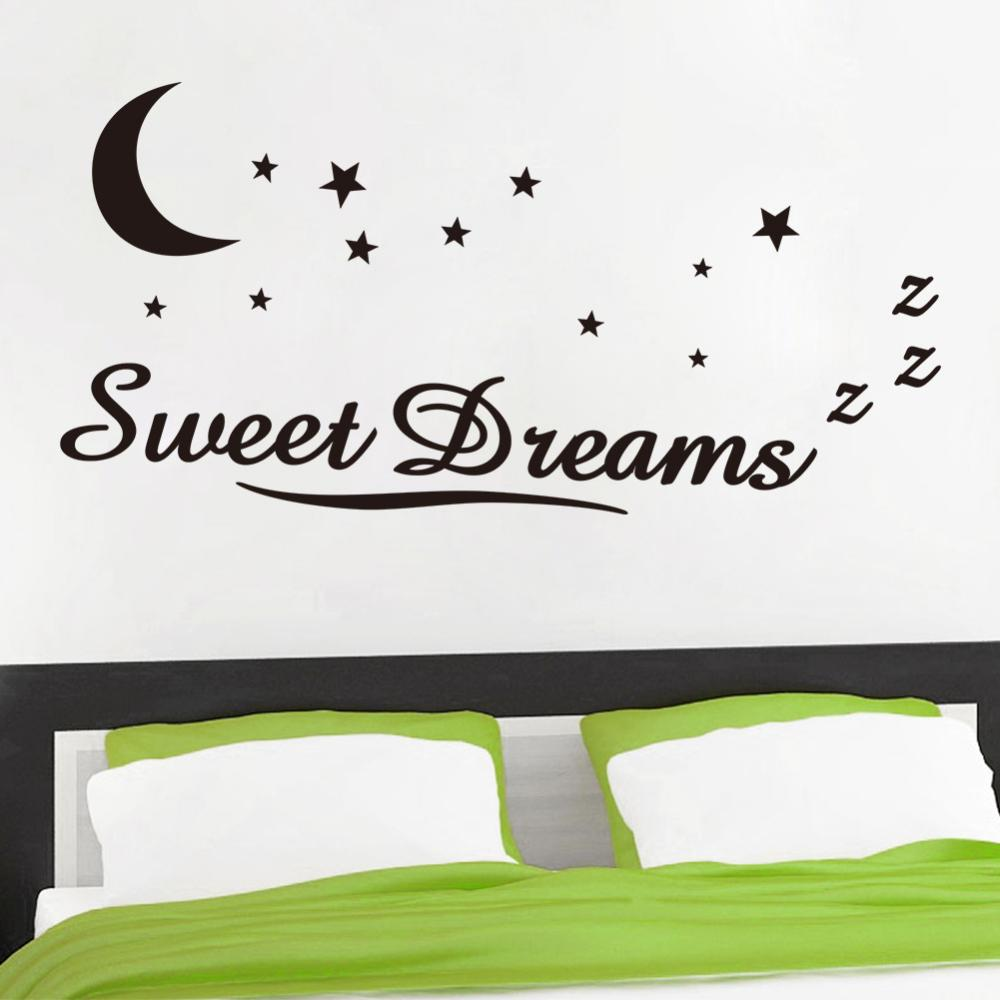 wall decals ZY8245 sweet dreams carved waterproof new foreign trade English Proverbs wall stickers can be removed wholesale(China (Mainland))