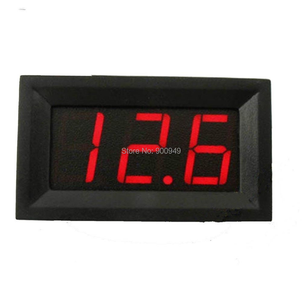 Digital Panel Meter 9v 3 5 : Mini red led voltmeter gauge volt voltage panel meter dc