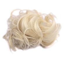 Good Quality Synthetic Hair Bun Elasitc Fake Hair Bun 35g Synthetic Hair Scrunchie Can be Curl And Dye WQ541G