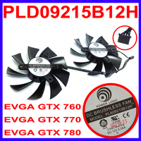 Power Logic PLA09215B12H DC 12V 0.55A 4Pin Cooler Fan Replacement For EVGA GeForce GTX 760 770 780 Graphics Video Card Fans