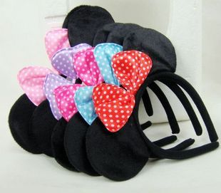 5pcs/lot Fashion minnie mouse ears headband spacial party girls headwear beautiful accessories hairpin for hair(China (Mainland))
