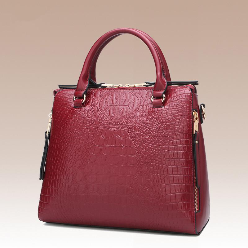 Здесь продается  Crocodile Skin Briefcase Women PU Leather Purse Handbags Messenger Bags Office Ladies Crossbody bages OL Work Bag Female  Камера и Сумки
