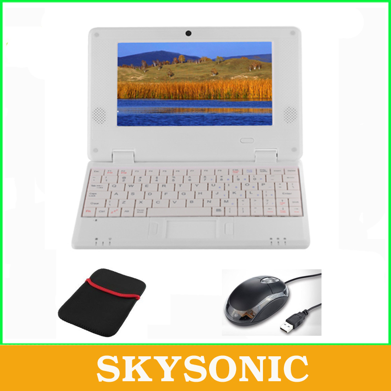 7 inch Android Netbook/Laptop/Notebook Pad Tab with 1GB RAM+8GB ROM, WIFI,HDMI, Dual Core,Free Gift with Mouse+Bag(China (Mainland))