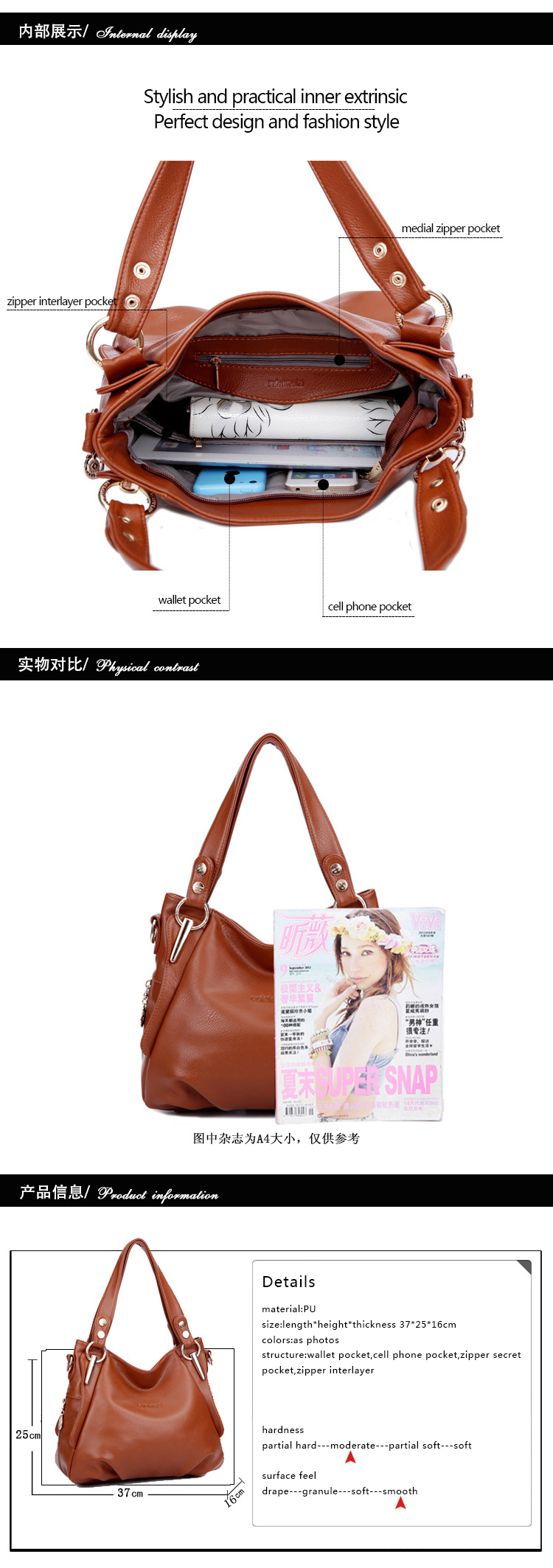 Bolsas Femininas Real Time-limited Zipper Bolsas 2014 Women's