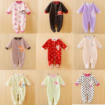 Весна осень полярный флис ткань ребенка мальчики девочки младенцы новорожденных возчиков и другой марки детская одежда комбинезон с длинным рукавом комбинезоны