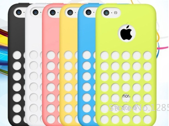 Original soft case for iphone 5c Fresh silicone cover for iphone5c covers Good quality cases Free shipping(China (Mainland))