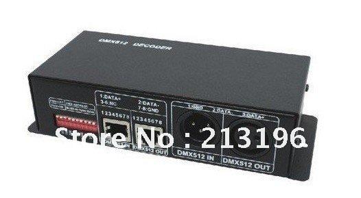 DHL constant voltage Led DMX512 driver,Led DMX decoder controller,4A*3chs - Light&Lighting store