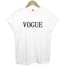 VOGUE T-shirt–Foreign trade speed sell tong lady T-shirt style in Europe and America