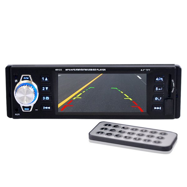 4.1'' inch big TFT screen Car radio player MP5 4.1 inch TFT screen Support Rear Camera 12V Car Audio video FM/USB/SD/MMC 1 Din(China (Mainland))