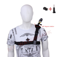 360 Rotate Harness Adjustable Shoulder Strap Mount Chest Belt Tripod Adapter for Sony Action Cam Outdoor