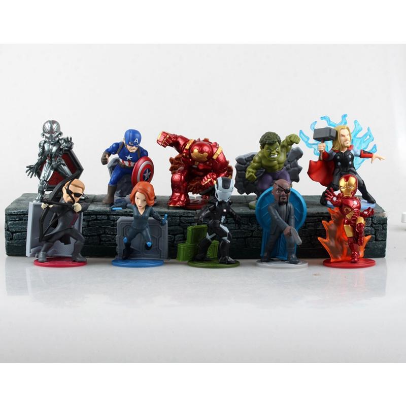 Avengers: Age Of Ultron 10pcs/set PVC Figure Toys Thor Hulk Iron Man Captain America Black Widow Hawkeye Free Shipping(China (Mainland))