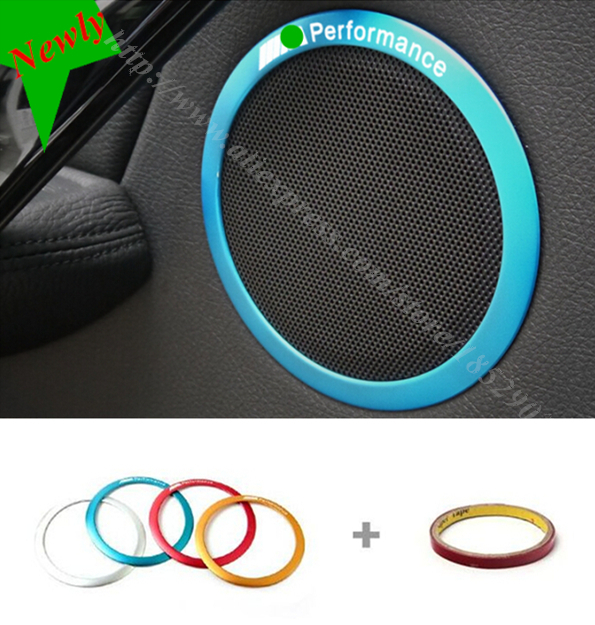 Car door horn circle frame cover trim/sequins ///M performance Audio speaker ring decorative strip for BMW 3 series f30 f35 320(China (Mainland))