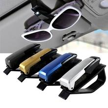 2015 fashional 4 colors S shaped Sunglasses Eyeglasses Car Auto Sun Visor Glasses Sunglasses Card Ticket