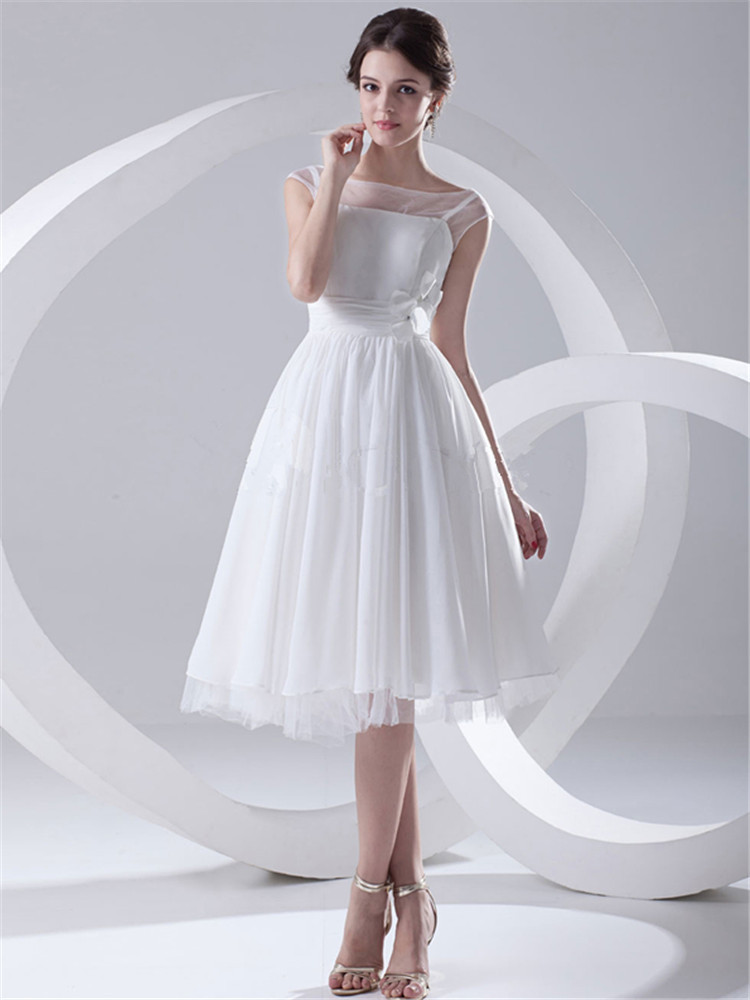 New trendy summer style vintage casamento short wedding for Wedding dresses with sleeves for sale